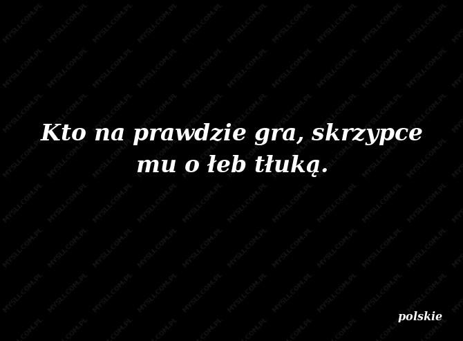 Przysłowia Polskie Powiedzenia Myslicompl