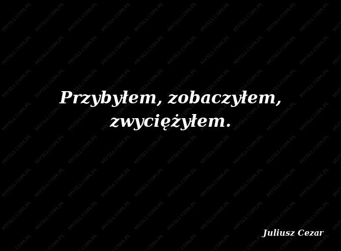 Juliusz Cezar Cytaty Sławnych Ludzi Myslicompl