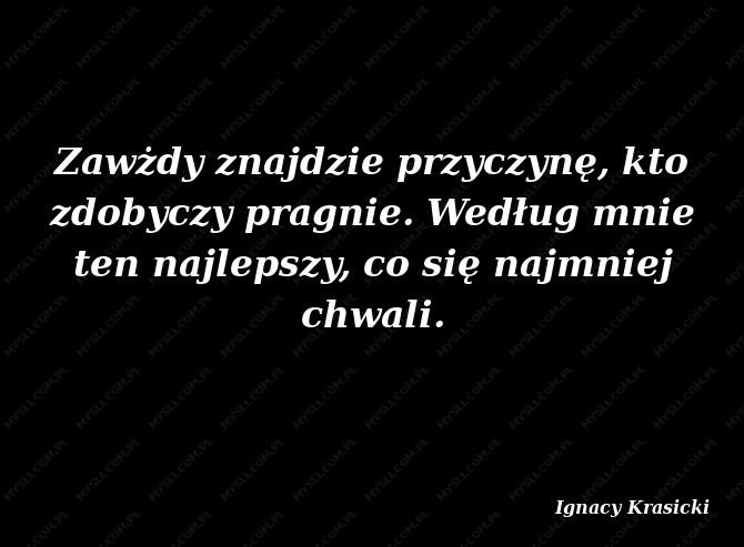 Ignacy Krasicki aforyzmy
