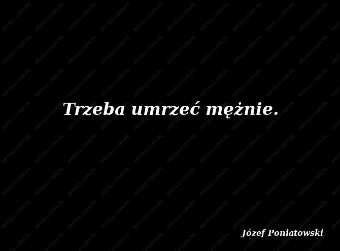 Józef Poniatowski Cytaty Józef Poniatowski