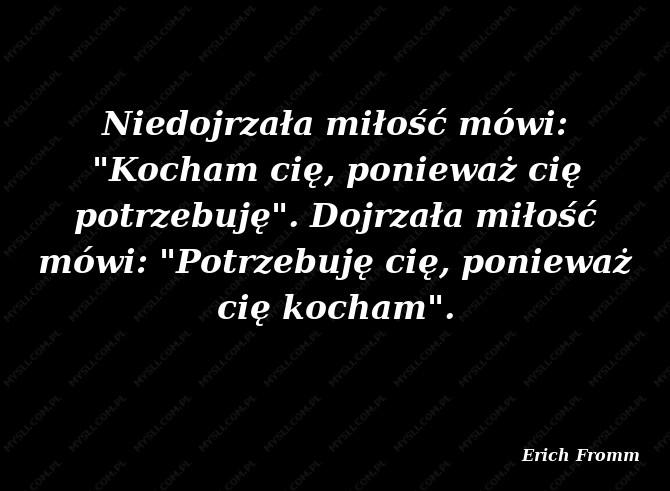Erich Fromm Cytaty Sławnych Ludzi Myslicompl
